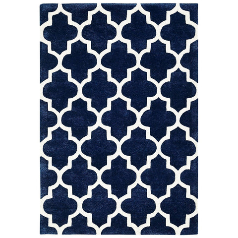 Image of Moroccan Blue Area Rug Rugs & Rooms