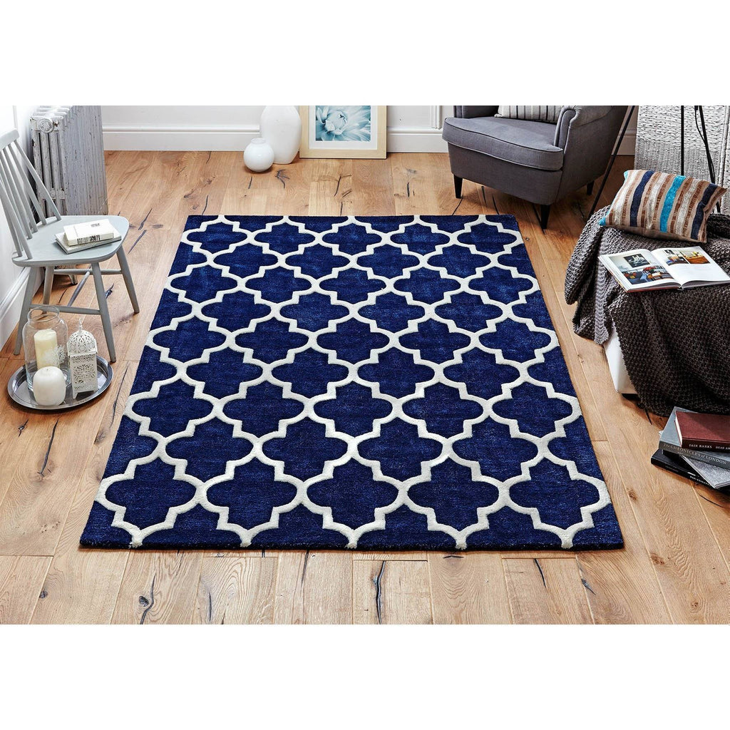 Moroccan Blue Area Rug Rugs & Rooms