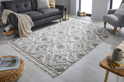 Image of Mia Cream / Grey Area Rug
