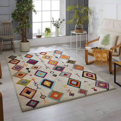 Tribal Multi-coloured Area Rug RUGSANDROOMS