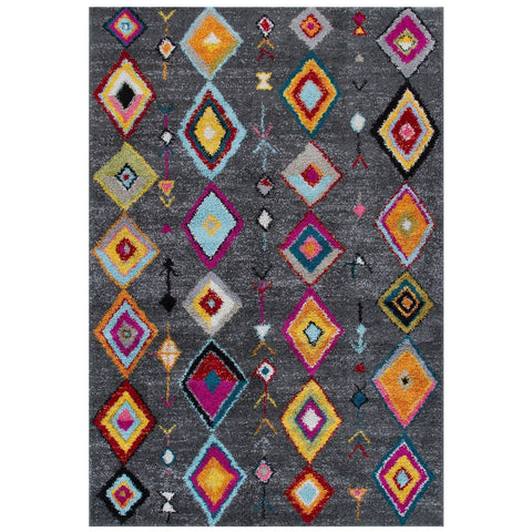 Tribal Charcoal Area Rug RUGSANDROOMS