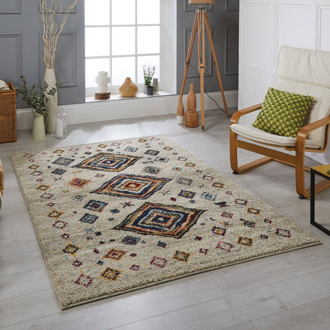 Tribal Cream/multi Area Rug RUGSANDROOMS
