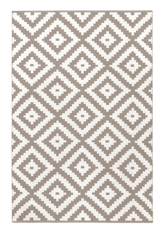 Image of Ava Dove Grey Indoor/ Outdoor Reversible Polyester Recycled Fibre Rug RUGSANDROOMS
