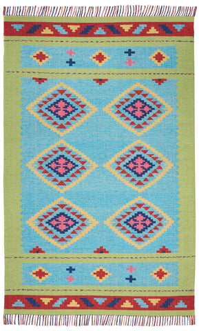 Image of Baja Blue/Green Area Rug RUGSANDROOMS