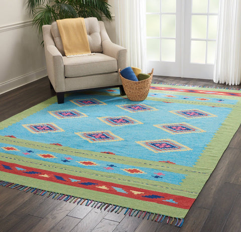 Baja Blue/Green Area Rug RUGSANDROOMS