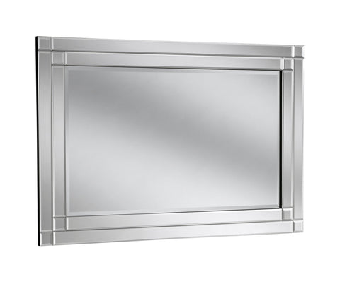 Image of Valeria Silver Accent Mirror RUGSANDROOMS