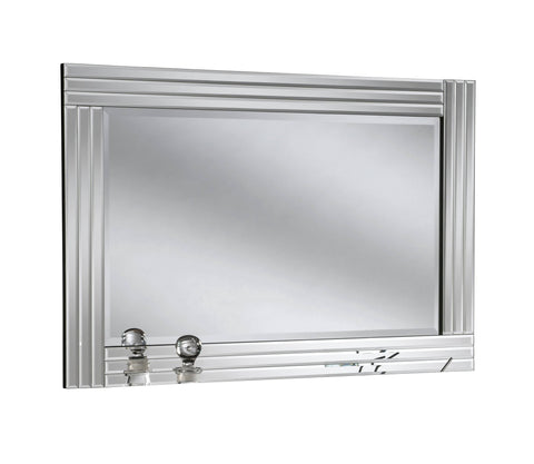 Image of Vanity Silver Accent Wall Mirror RUGSANDROOMS