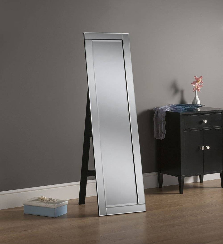 Silver Floor Accent Mirror RUGSANDROOMS