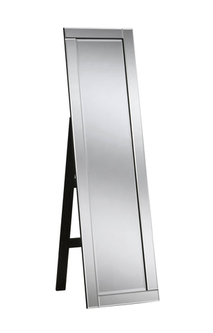 Image of Silver Floor Accent Mirror RUGSANDROOMS