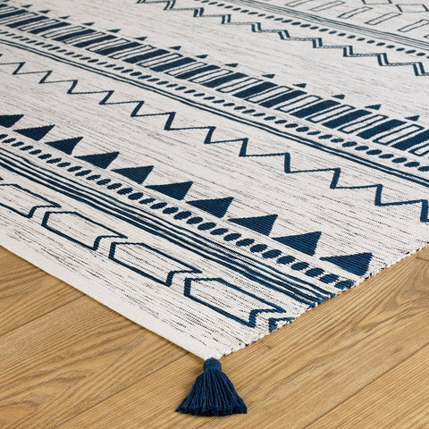 Image of Beni Blue Area Rug RUGSANDROOMS