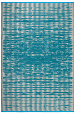 Image of Vintage Teal Indoor Outdoor Area Rug RUGSANDROOMS