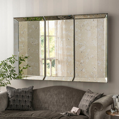 Florence Antique Panel Mirror