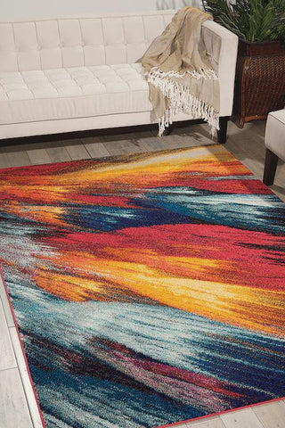 Image of Nourison Burst Area Rug RUGSANDROOMS