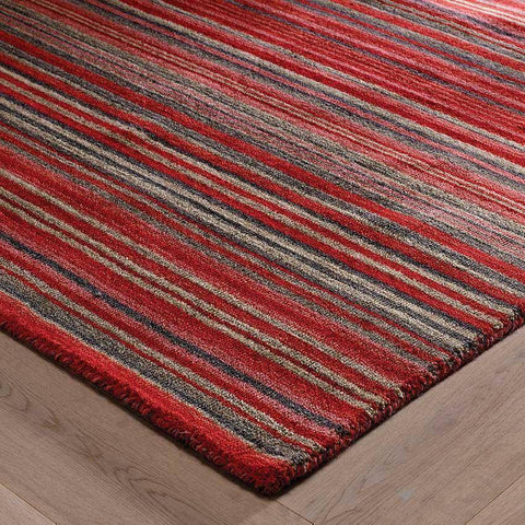 Image of Carter Lane Red Area Rug RUGSANDROOMS