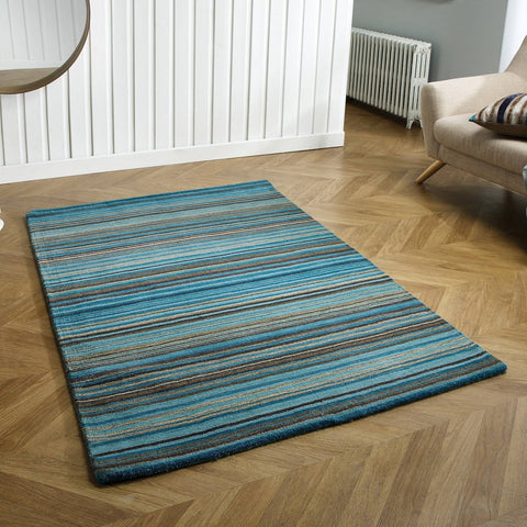 Image of Carter Lane Teal Area Rug RUGSANDROOMS