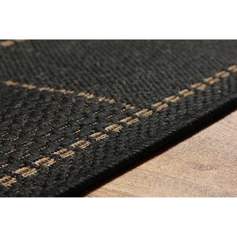 Image of Flat Weave Black Area Rug RUGSANDROOMS