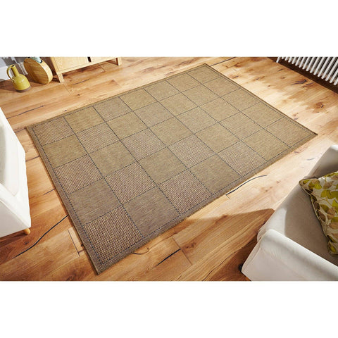Flat Weave Natural Area Rug RUGSANDROOMS