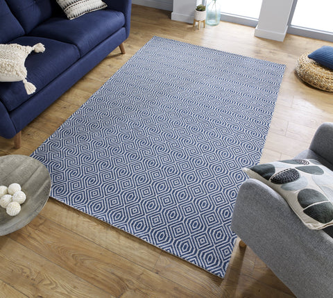 Image of Tobias Blue Area Rug