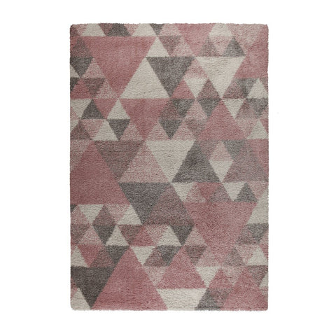 Image of Sophie Pink, Cream & Grey Area Rug RUGSANDROOMS
