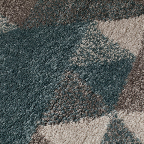 Sophie Blue, Cream & Grey Area Rug RUGSANDROOMS