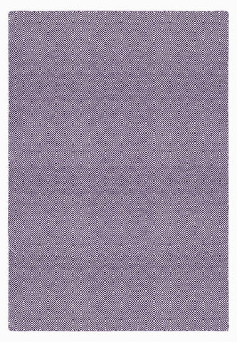 Solitaire Aubergine Indoor/ Outdoor Reversible Polyester Recycled Fibre Rug RUGSANDROOMS