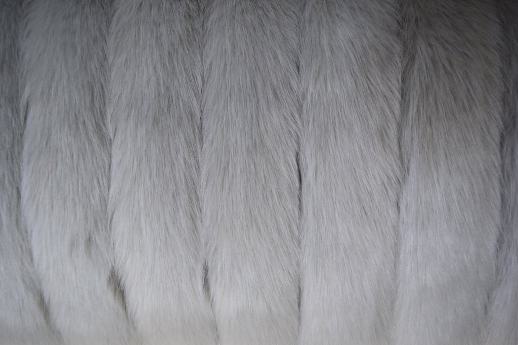 Silver Decking Faux Fur Throw RUGSANDROOMS