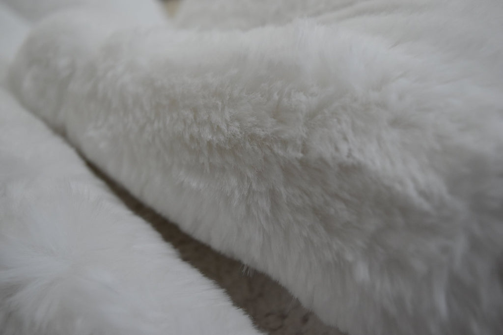 Latte Faux Fur Throw RUGSANDROOMS