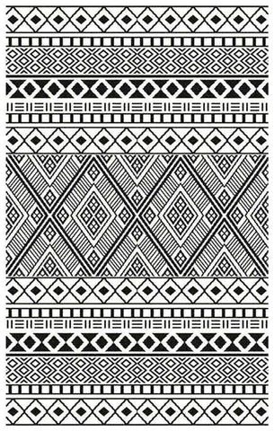 Image of Relic Black & White Indoor-Outdoor Reversible Rug cvsonia