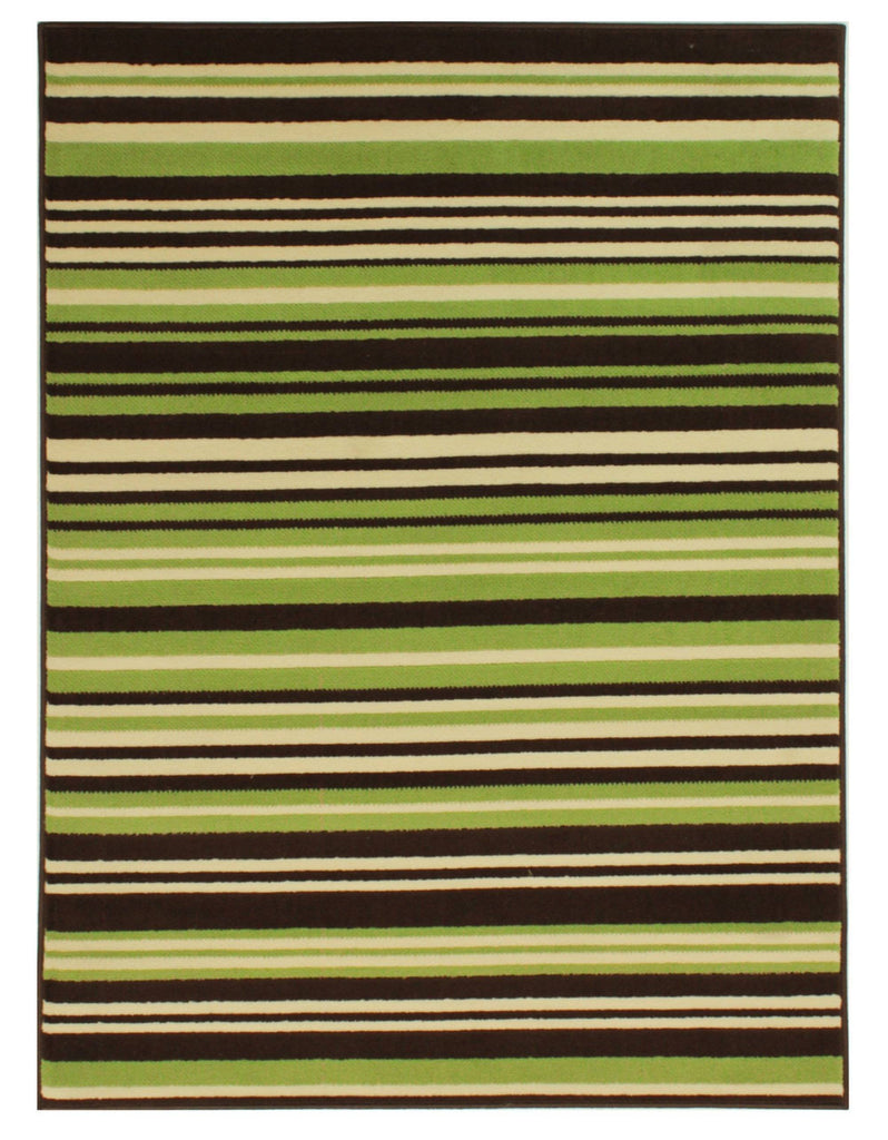 Yuri Green/Brown Area Rug RUGSANDROOMS