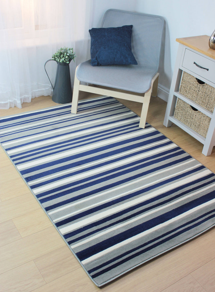 Yuri Blue/Grey Area Rug RUGSANDROOMS