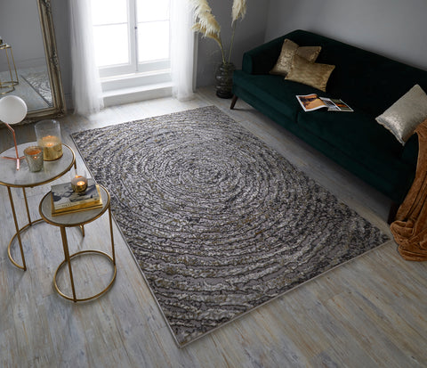 Image of Ava Gold Area Rug