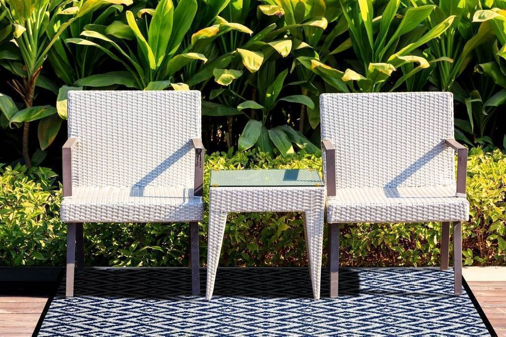 Espero Blue & White Indoor-Outdoor Reversible Rug cvsonia