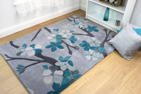 Image of Karina Teal Area Rug RUGSANDROOMS