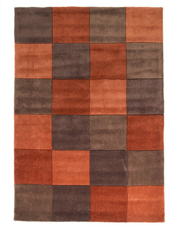 Image of Mabel Rust/Chocolate Area Rug RUGSANDROOMS