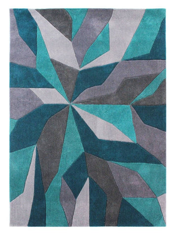 Image of Wera Teal Area Rug RUGSANDROOMS