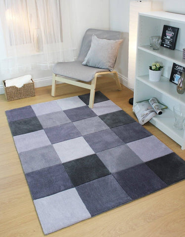 Image of Mabel Grey Area Rug RUGSANDROOMS