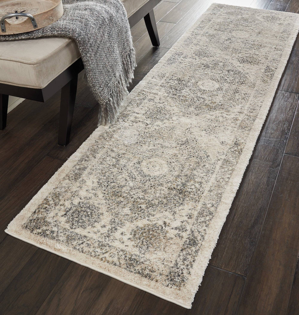 Belle Cream/Grey Area Rug RUGSANDROOMS