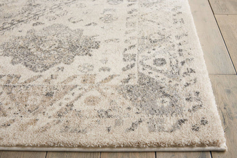 Image of Belle Cream/Grey Area Rug RUGSANDROOMS