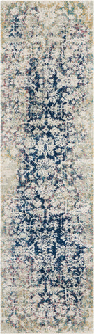 Image of Simpson Cream/Blue Area Rug RUGSANDROOMS