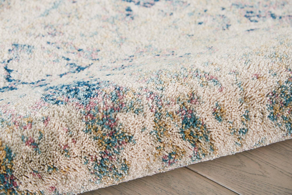 Simpson Cream/Blue Area Rug RUGSANDROOMS