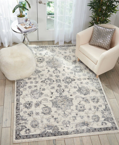 Valley Cream/Grey Area Rug RUGSANDROOMS
