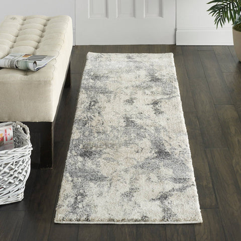 Tula Cream/Grey Area Rug RUGSANDROOMS