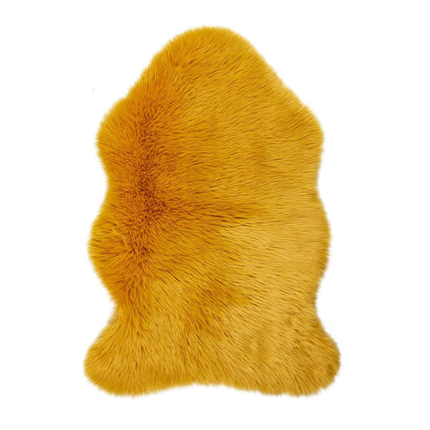 Image of Ochre Faux Fur Sheep Skin RUGSANDROOMS
