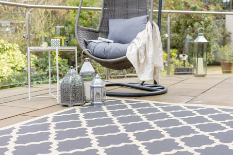 Alexis Beige/ Grey Indoor/Outdoor Area Rug RUGSANDROOMS