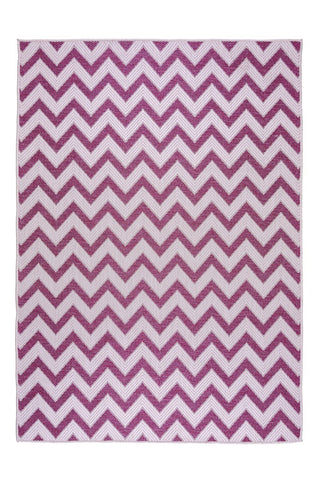 Image of Pink Zig Zag Outdoor Indoor Area Rug RUGSANDROOMS