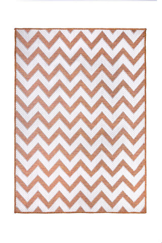 Orange Zig Zag Outdoor Indoor Area Rug RUGSANDROOMS