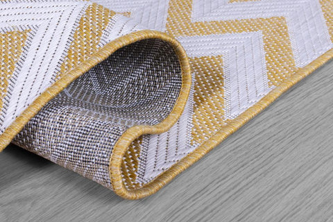 Yellow Zig Zag Outdoor Indoor Area Rug RUGSANDROOMS