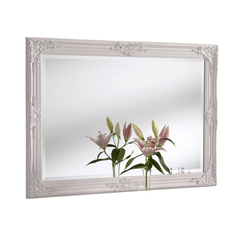 Image of Florence White Accent Mirror gagandeepstore