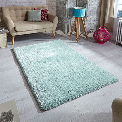 Soft Shaggy Mint Area Rug