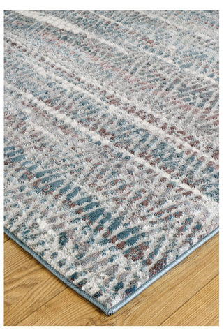 Image of Zigzag Blue Area Rug